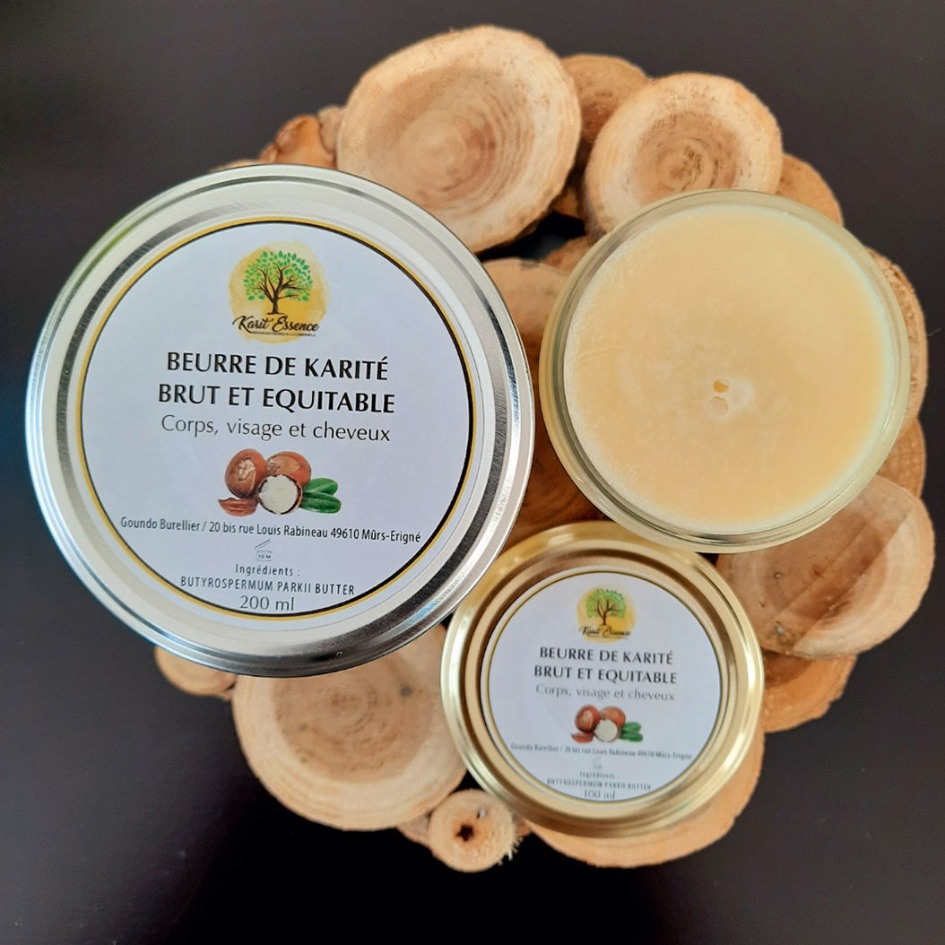 beurre de karité brut, beurre de karité non raffiné, beurre de karité équitable, commerce équitable, savonnerie artisanale angevine